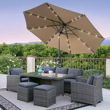 Battery Operated Patio Umbrella Lights by Amazon Com Best Choice Products 10ft Deluxe Solar Led Lighted