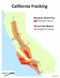 San Francisco Ca Map by Fracking In California Map California Map