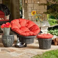 furniture hanging outdoor papasan chair with white cushion seat
