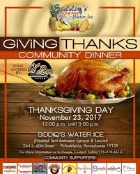 local businesses team up to serve thanksgiving community dinner
