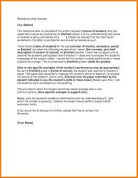 Letter Of Recommendation Teacher Template 6 Academic Reference Sample Park Attendant