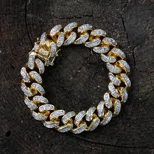 cuban link bracelet gold images Miami cuban link bracelet diamond bracelets bracelets jpg
