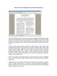 format abstrak tesis membuat format pengetikan jurnal ilmiah dengan word