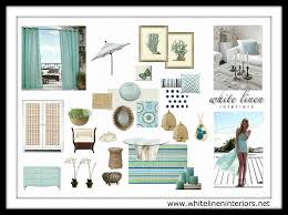design concept board chic boutique hotel coastal style