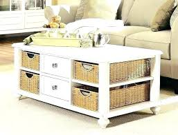 Wicker Storage Ottoman Coffee Table Coffee Tables With Basket Storage Raunsalon