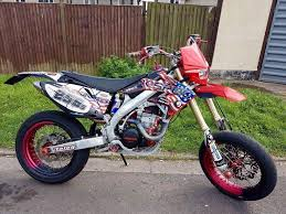 road registered 2007 honda crf 450 r twin pipe supermoto on road