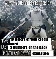 Credit Card Memes - first 16 letters of your credit card last 3 numbers on the back