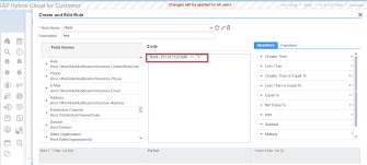 how to change ui element visibility dynamically via rule editor