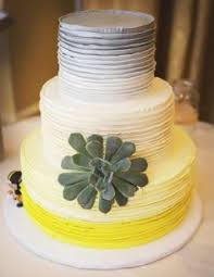 red and grey wedding jen u201d ombre yellow and gray wedding cake