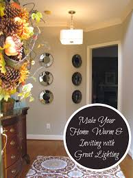 homemadeville your place for homemade inspiration home decor foyer with pendant shade light fixture and mirror wall gallery