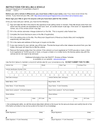 Bill Of Sales For Vehicle by Wisconsin Motor Vehicle Bill Of Sale Form Mv 2928 Eforms