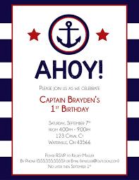 nautical birthday invitations lilbibby com