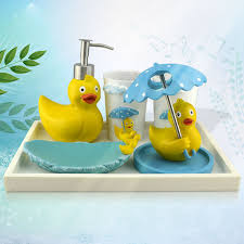 duck decorations amusing hot rubber duck resin bathroom set five pieces bath