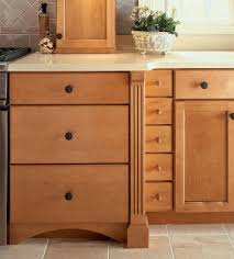 entrancing brown color oak wood merillat kitchen cabinets