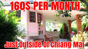 Cheapest Rent In United States by Cheap Rent House Tour Chiang Mai Thailand Under 200 Month Youtube