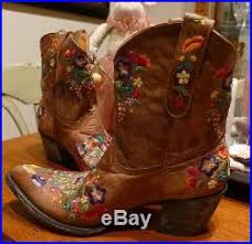 gringo womens boots size 11 gringo s floral embroidery sora leather 8 cowboy