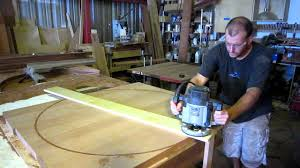 how to make a round table a perfect circle true wood design youtube
