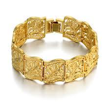 gold charm link bracelet images 19cm flower charm gothic chain link bracelet for women men gold jpg