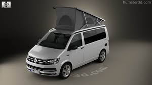 volkswagen california 360 view of volkswagen transporter t6 california 2016 3d model