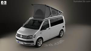 volkswagen california t6 360 view of volkswagen transporter t6 california 2016 3d model