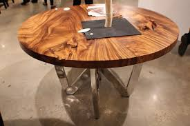 Modern Round Dining Table Wood Industrial Modern Round Dining Table Modern Industrial Round