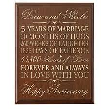 five year wedding anniversary gift 5 year anniversary gift for him