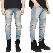 Ripped Denim Jeans For Men Denim Baggy Loose Destroyed Jeans For Men Ebay