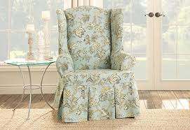 wingback chair slipcovers sure fit category blue wingback chair slipcovers tools