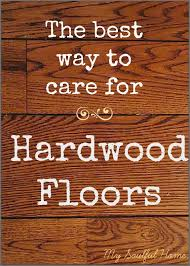 best way to clean hardwood floors