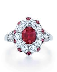 ruby engagement ring 34 royal ruby engagement rings martha stewart weddings