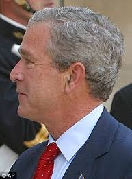 bush hairs george w bush shows off suspiciously darker hair at dallas