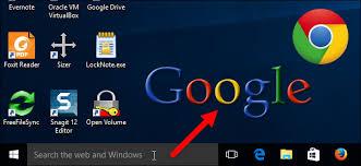 Windows Search Box - make the windows 10 start menu and cortana search google instead