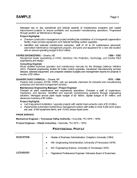 Resume Example Engineer by Resume Writing Industry Free Resume Example And Writing Download