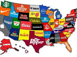 Map Of The States In The United States by The Most Famous Brand In Every State Business Insider