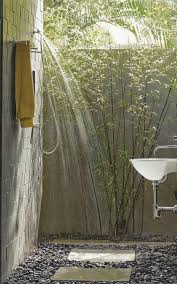 Simple Outdoor Showers - simple exposed concrete outdoor shower designs u2013 howiezine