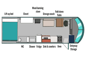 school bus floor plan at home anywhere living on a bus bus house renting and small spaces