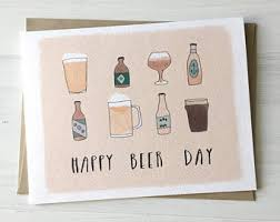 beer birthday card etsy