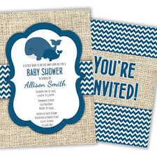 whale baby shower invitations best blue chevron baby shower invitations products on wanelo