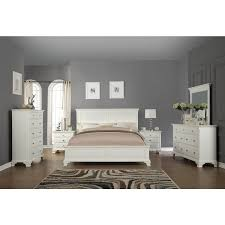 Hardwood Bedroom Furniture Sets by Laveno 012 White Wood Bedroom Furniture Set Includes Queen Bed