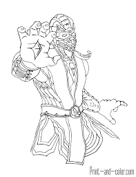 mortal kombat characters coloring pages eson me