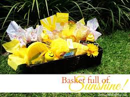 Get Well Soon Gift Basket Curb Alert Get Well Soon Gift Basket Full Of Sunshine