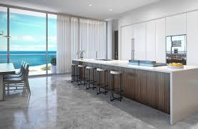 penthouse at l u0027atelier residences miami beach kitchen most