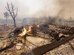 California Wildfires Burn Cars by Santa Rosa Fire Diablo Winds Caused Wildfires To Spread Quickly