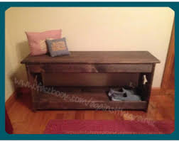 Boot Bench With Storage Shoe Storage Bench Etsy