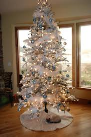 Christmas Tree With Blue Decorations - christmas ornaments white christmas tree ornaments white