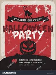 halloween party poster simply flat design stock vector 315108692
