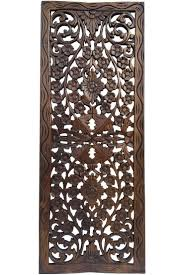 chic carved wooden wall australia design decor carved mango