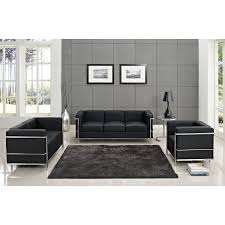 Modern Black Sofa Set How To Buy Black Leather Sofa Online Modern Black Leather Sofa