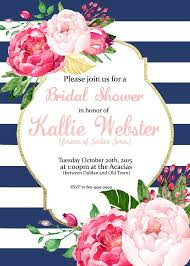 baby brunch invitations pink floral stripes invitation bridal shower baby shower