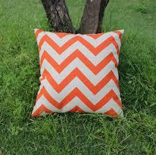 online get cheap throw pillows orange aliexpress com alibaba group vezo home print orange chevron geometric linen sofa cushions cover home decorative throw pillows cover chair